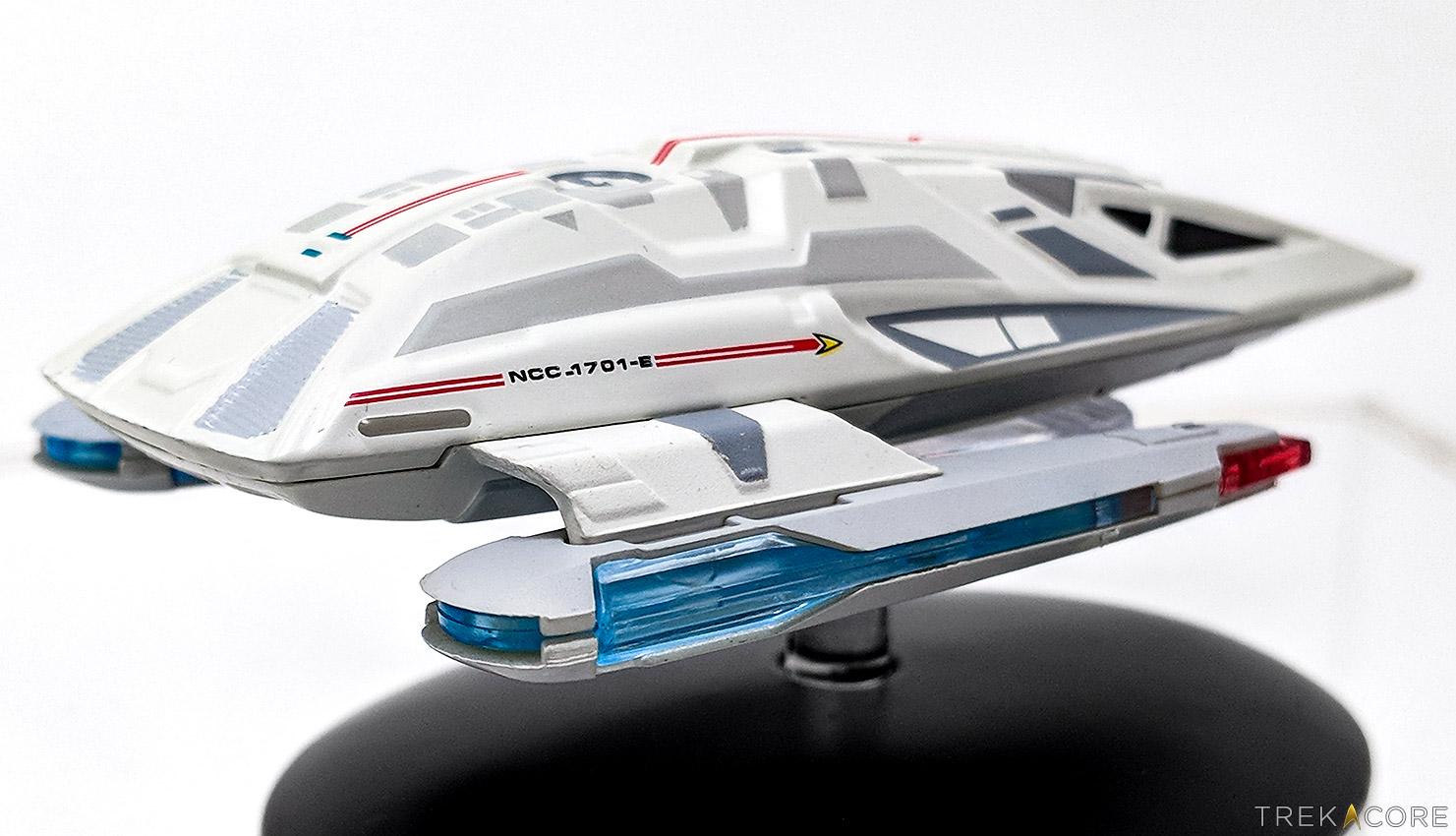 Star Trek Transfershuttle Travel Pod shuttle #11 Earth Spacedock Eaglemoss eng