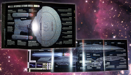 Gatefold section from 'On Board the U.S.S. Enterprise'
