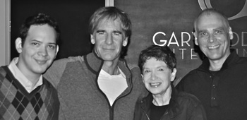 Roger Lay, Jr. with Scott Bakula and Judith and Garfield Reeves-Stevens