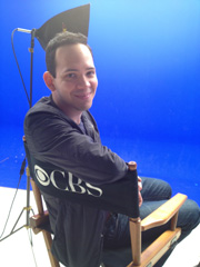 Roger Lay, Jr. in his CBS Director's Chair