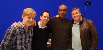 Kris Edwards, Roger Lay, Jr. and Robert Meyer Burnett with Michael Dorn (Worf)