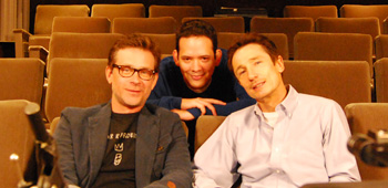 Roger Lay, Jr. with Connor Trinneer and Dominic Keating