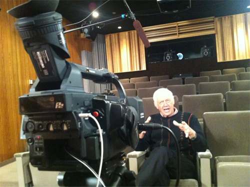 Ronny Cox being interviewed for future TNG Blu-ray VAM