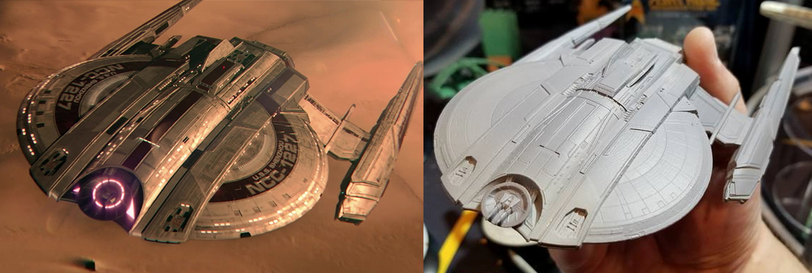 Heres A Comparison Of The Test Model Ship Next To Shenzhou Featured In Most Recent Star Trek Discovery Trailer