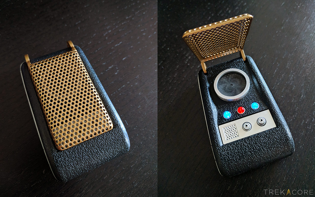 Running Press' light-up TOS communicator, complete with audio effects.