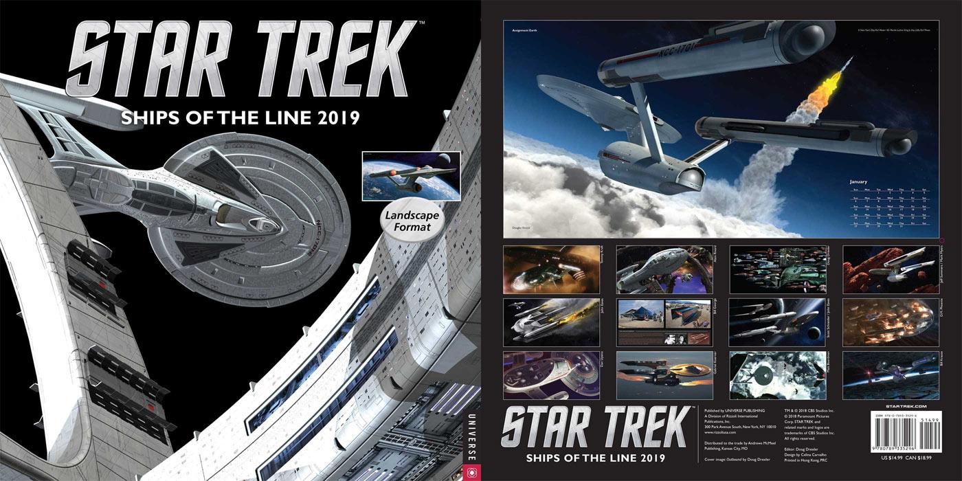 DISCOVERY Enterprise Design in 2019 STAR TREK Calendar