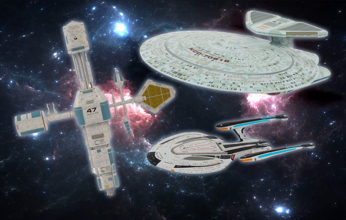 Hero Collector's June STAR TREK Models Include Space Station, XL Nebula, Enterprise-F, and More from PICARD • TrekCore.com