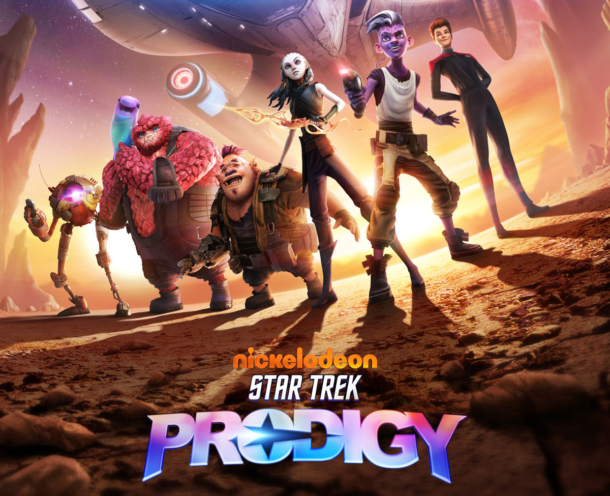 Publicity image featuring the main characters from Star Trek: Discovery